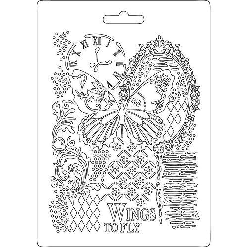 Moule souple papillon et horloge