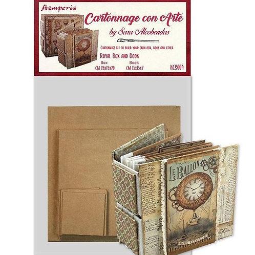 Cartonnage kit stamperia royal box