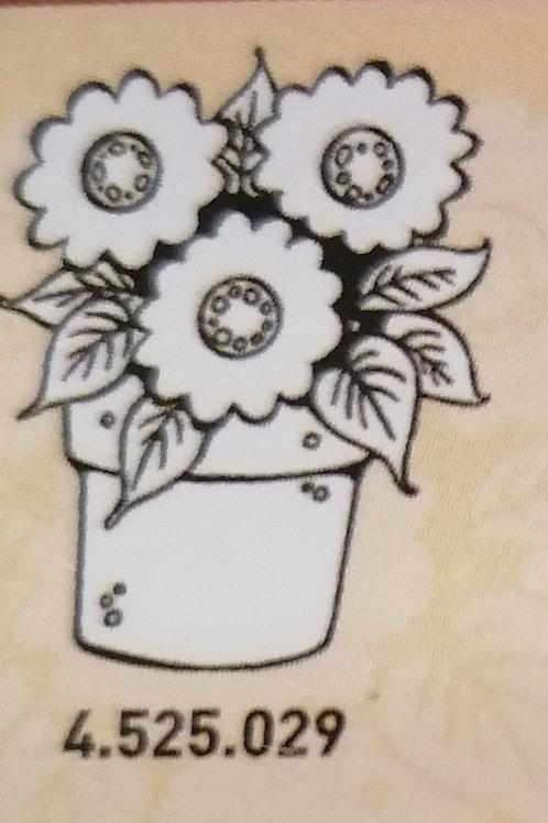 Tampon clear pot de fleur