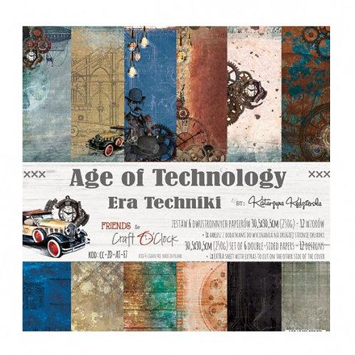 """Bloc papier """"age of Technology"""" 30.5x30.5cm"""
