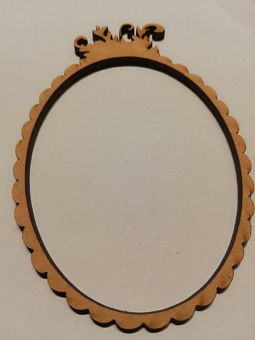 embellissement bois 2 mm cadre  10 x 7 cm