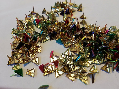 Lot Attaches parisiennes triangle 10 mm