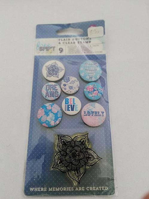 badge + tampon prima marketing spirit