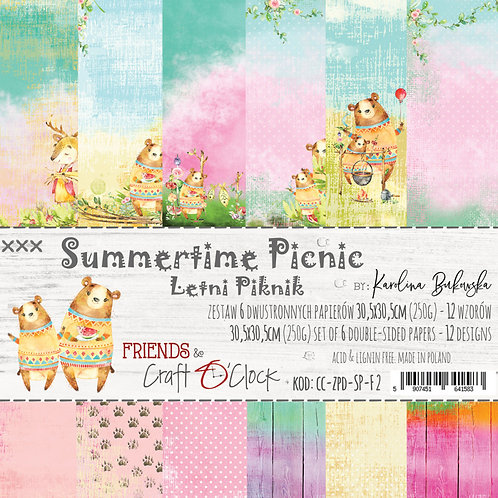 """Bloc papier """"summertime Picnic"""" 30.5x30.5cm"""