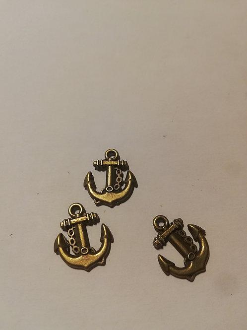 lot de 3 breloques petite encre Marine