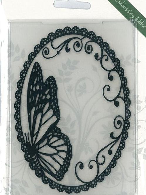 Classeur d embossage papillons ovale