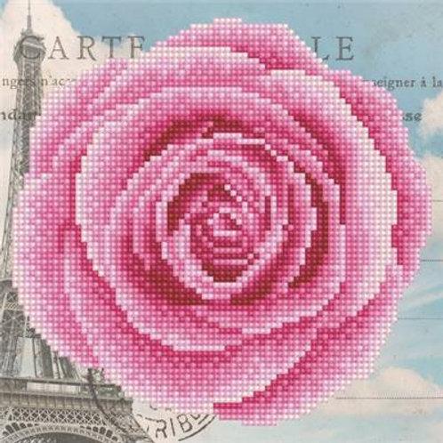 Broderie diamant rose