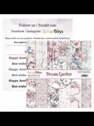 Papier scrapboys dream garden 15.2 cm