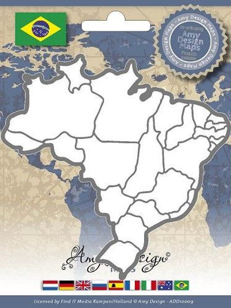 Matrice de découpe carte du Brésil