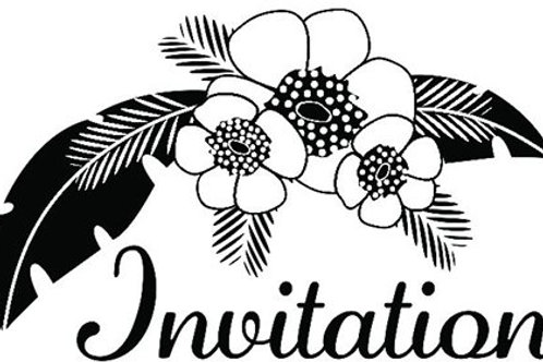 Tampon Bois Invitation  4x6 cm