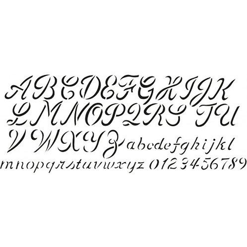 Pochoir alphabet et chiffres