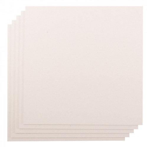 Lot de 5 cartonettes 2 mm (30.5x30.5cm)