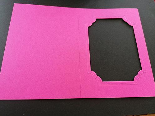 double carte Fushia 10x15 cm