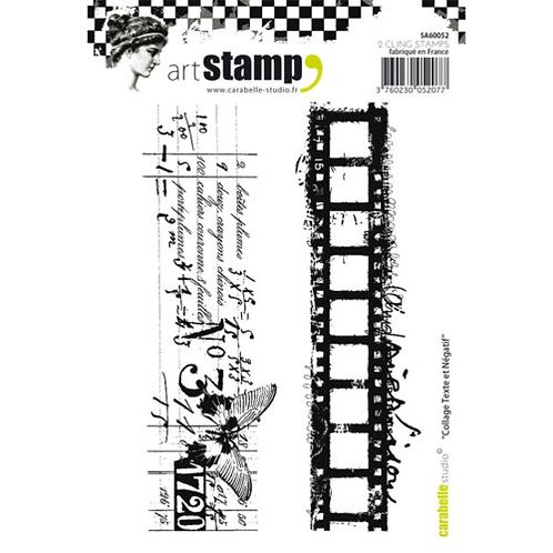 Tampon A6 mètre collage texte