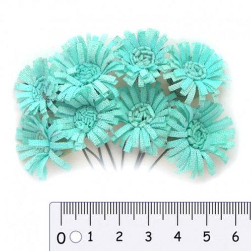 Fleurs en papier verts