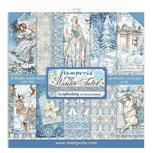 Papier stamperia 30 x 30 cm Winter Tales SBBL72