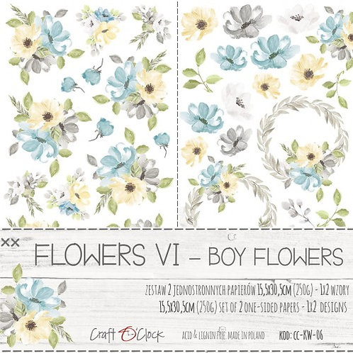 Lot de 2 feuilles Flowers VI-Boy Flowers