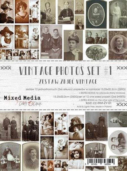 12 Papiers vintage 15,25 x 20.3 cm