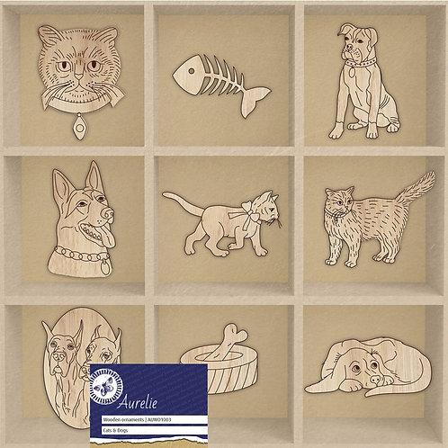 Embellissements en bois sur les animaux