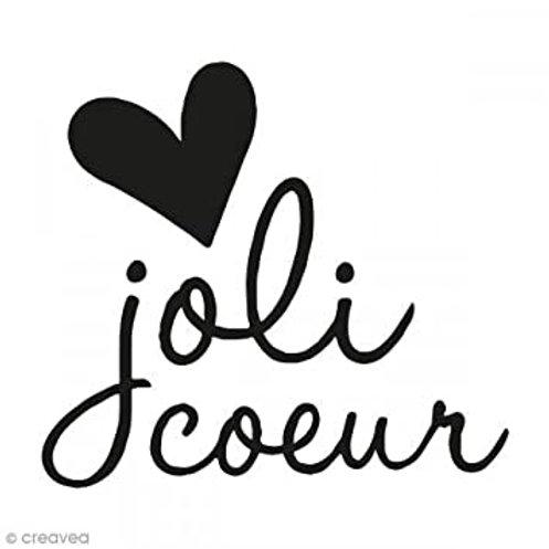 Mini tampon clear joli cœur
