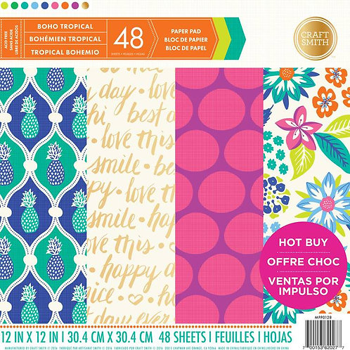 Bloc 48 papiers 30.5 x 30,5 cm  craft smith