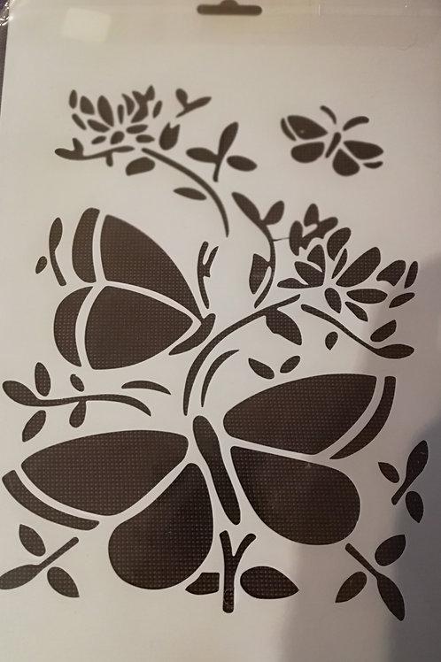 pochoir A4 papillons