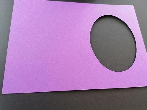double carte Violet 10x15 cm
