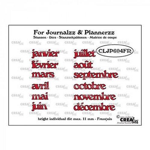 Matrices de découpe mois en français