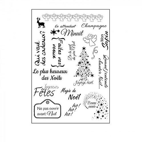 Tampons clear français magie de Noël