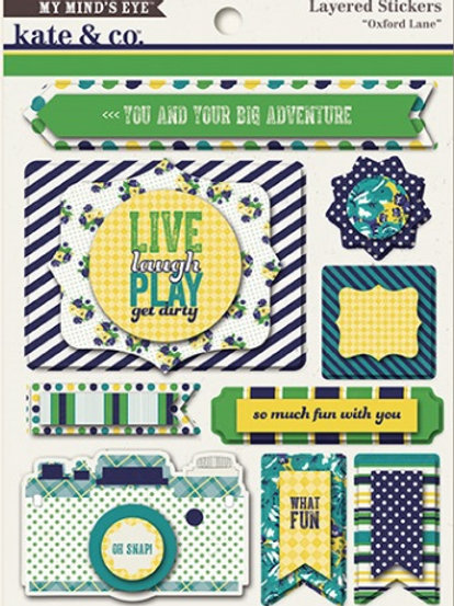 embellissement stickers live laugh play