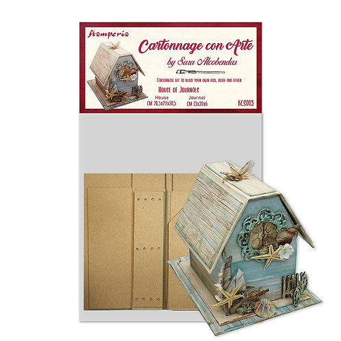 Cartonnage kit stamperia housse journal