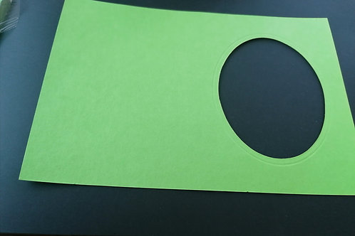 double carte vert 10x15 cm