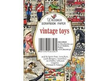 Mini Bloc vintage toys  7 x 10,8 cm