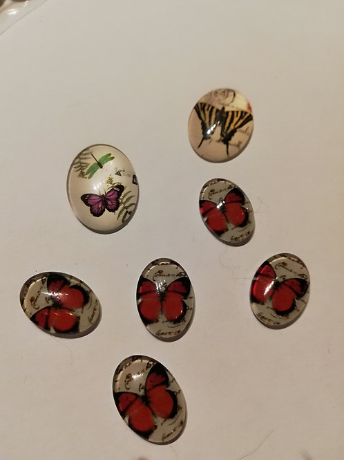 lot de 7 cabochons ovale grand et petit