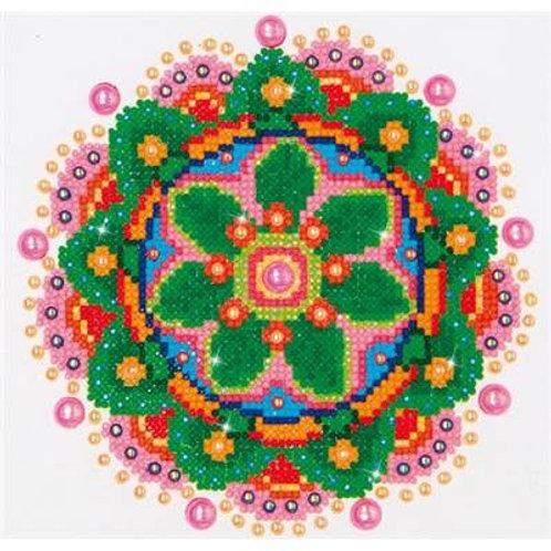 Mandala fleur broderie diamant