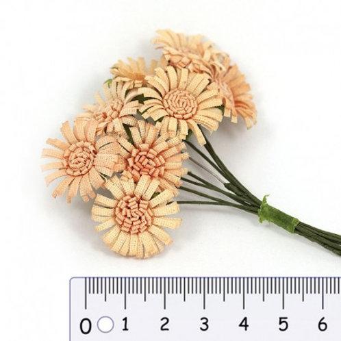 Fleur en papier creme