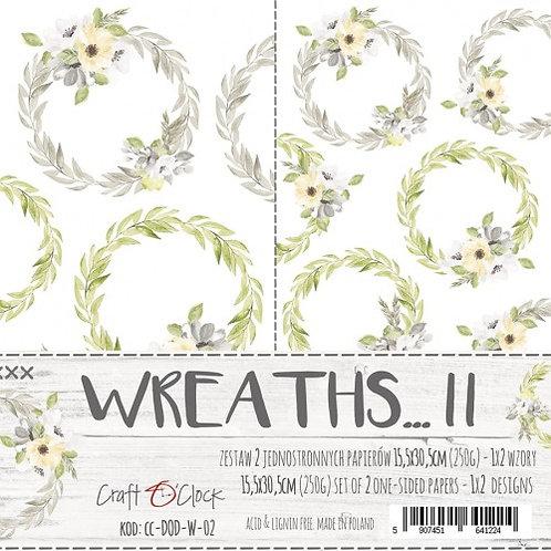 Lot de 2 feuilles Wreaths... II   15.5cmx30.5cm