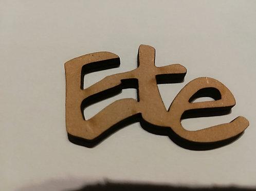Embellissement bois Ete 6x4 cm