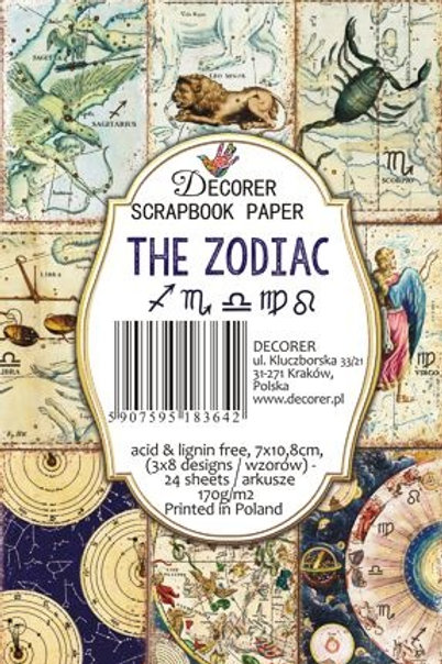 Mini Bloc Zodiac 7 x 10,8 cm decor-m64