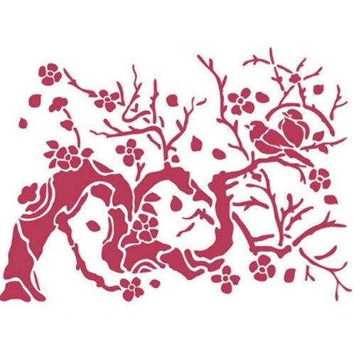 Pochoir Stamperia branche d'arbre