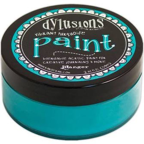 Dylusions Paint turquoise