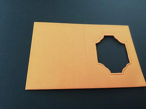 mini double carte Orange 6x8 cm