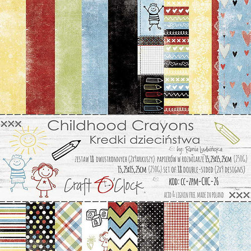 Bloc Childhood Crayons 20,3 x 20,3 cm