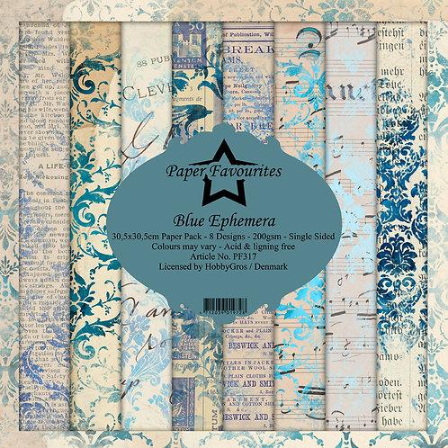 PAPIERS FAVOURITES BLUE 30,5 X 30,5 CM