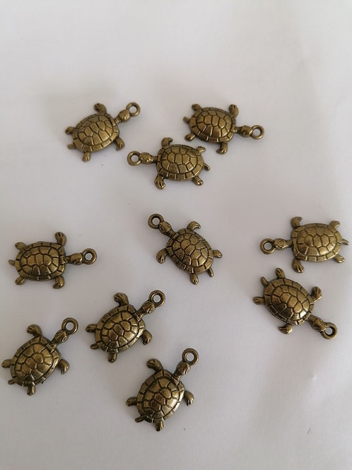 Lot de 5 breloques tortue