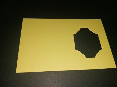 mini double carte Jaune 6x8 cm