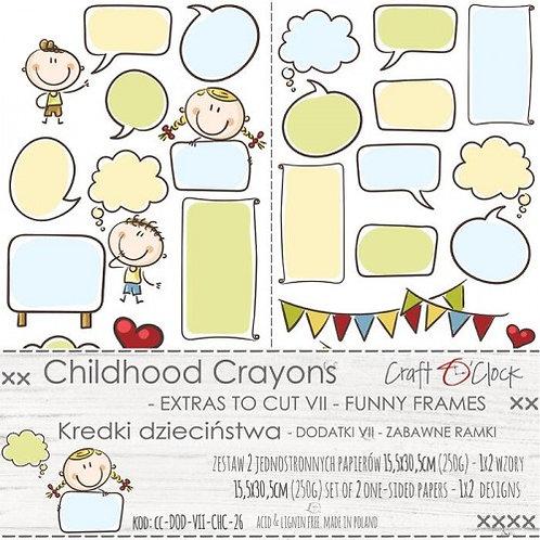 Lot 2 feuilles childhood crayons modèle 1