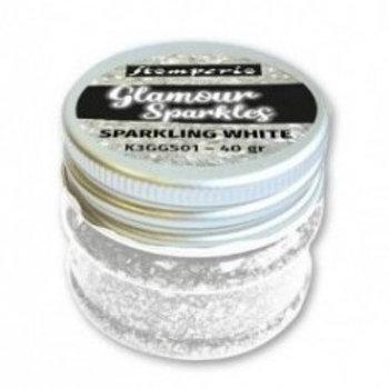 Glamour sparkles sparkling white