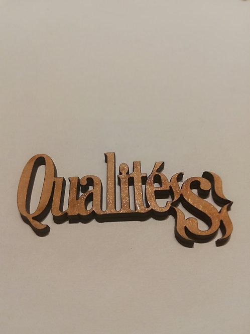 embellissement bois 2 mm Qualites 8 x 2 cm