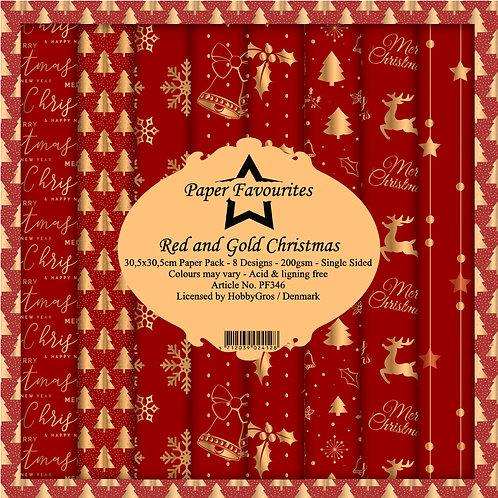 Papiers Paper Favourites 30,5 x 30,5 cm Gold Christmas